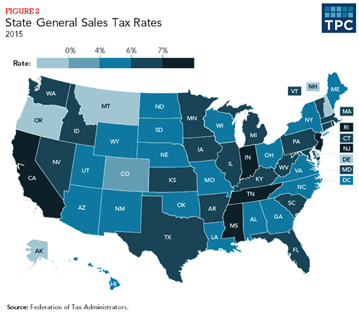 Figure 2 - State General Sales Tax Revenue, 2015